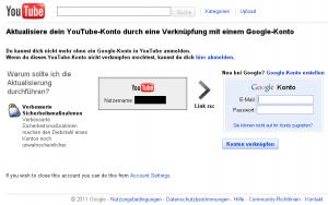 Google zwingt YouTube-Konto-Nutzer zu Google-Konto