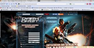 FAKE: Screenshot der DarkOrbit - Loginseite www_xdxaxrxkxoxrxbxixt_zustimmen_de