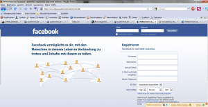 FAKE: Screenshot der Facebook - Login-Seite - www_xfxaxcxexbxoxoxk_zustimmen_de